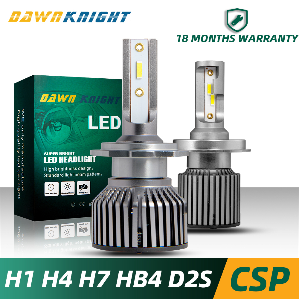 2PCS H4 Led Headlight H1 H4 H11 9005 HB3 9006 HB4 H27 D2S D2C D2R H7 Led Bulb CSP <font><b>10000LM</b></font> 6000K Mini Size Car Headlight Bulb Led image