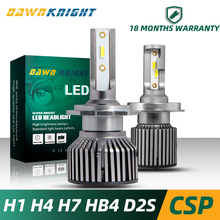 2PCS H4 Led Headlight H1 H11 9005 HB3 9006 HB4 H27 D2S D2C D2R H7 Bulb CSP 10000LM 6000K Mini Size Car