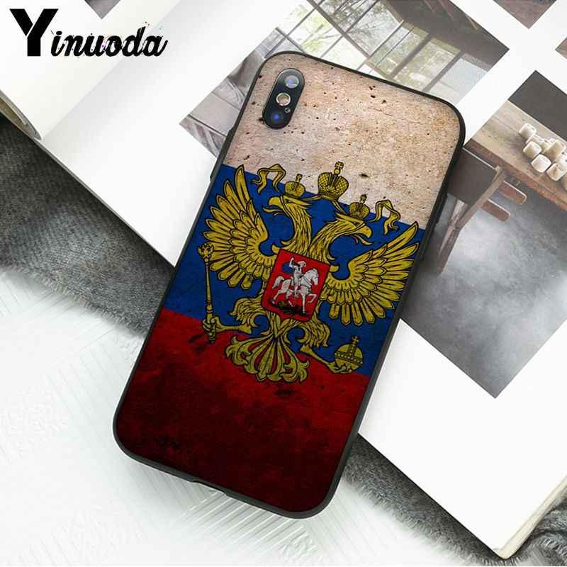 Yinuoda rússia brasão de braços dupla cabeça águia diy bela caixa do telefone para o iphone x xs max 6s 7 mais 8 8 mais 5 5S se xr