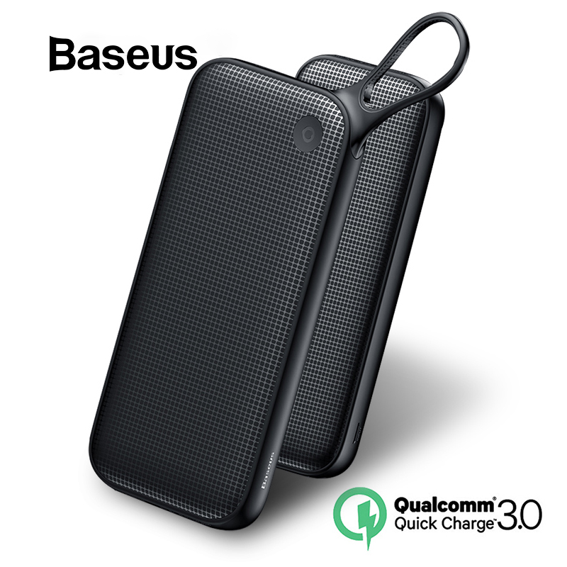 Baseus 20000mAh Power Bank For iPhone XR Xs Max 8 7 Samsung Huawei USB PD Fast Charging QC3.0 Quick Charger Powerbank MacBook