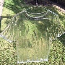 100x137 см/шт. 0,1 мм/0,3 мм ТПУ дизайнерская ткань ультра перспективный плащ для одежды водоистончение кристальная пластиковая ткань