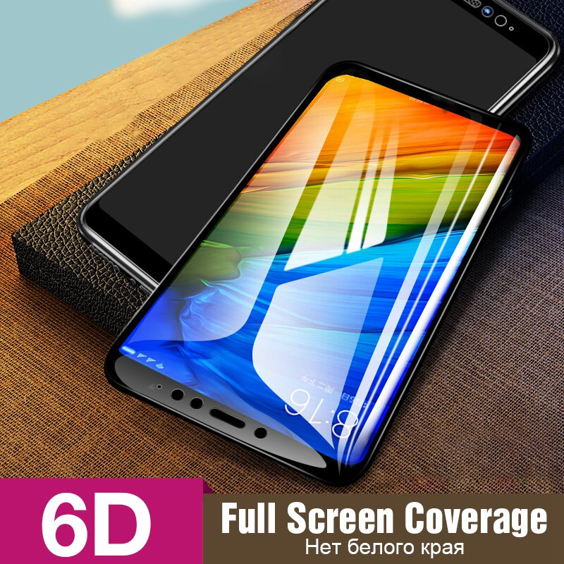 6D Full Cover Tempered Glass For Xiaomi Redmi Note 7 6 Pro Redmi 5 Plus 6 Pro 6A Screen Protector Film For Redmi Note 5 4X Glass in Phone Screen Protectors from Cellphones Telecommunications