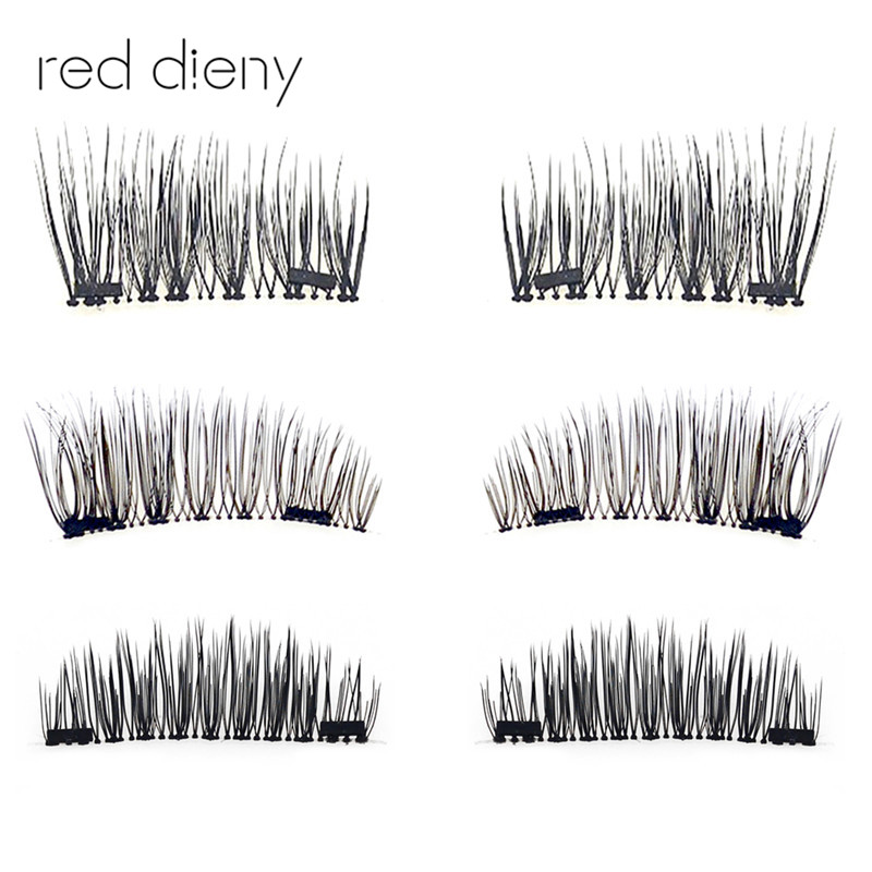 Double Magnetic Eyelashes Maquiagem False Lashes Magnetic Lashes False Eyelashes High Quality Makeup 3d Lashes Kit Set 4pcs/pair
