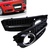1pair Automobiles Car Fog Light Lamp Cover Lower Bumper Grille For Audi A4 B8 2009 2010 2011 Car Styling