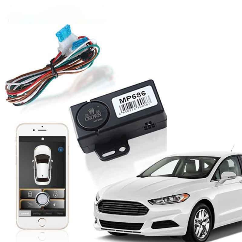 Verrouillage/déverrouillage centralisés automatique d'entrée sans clé pour le système d'alarme de voiture de contrôle de SmartPhone PKE de coffre d'allumage de bouton poussoir d'android