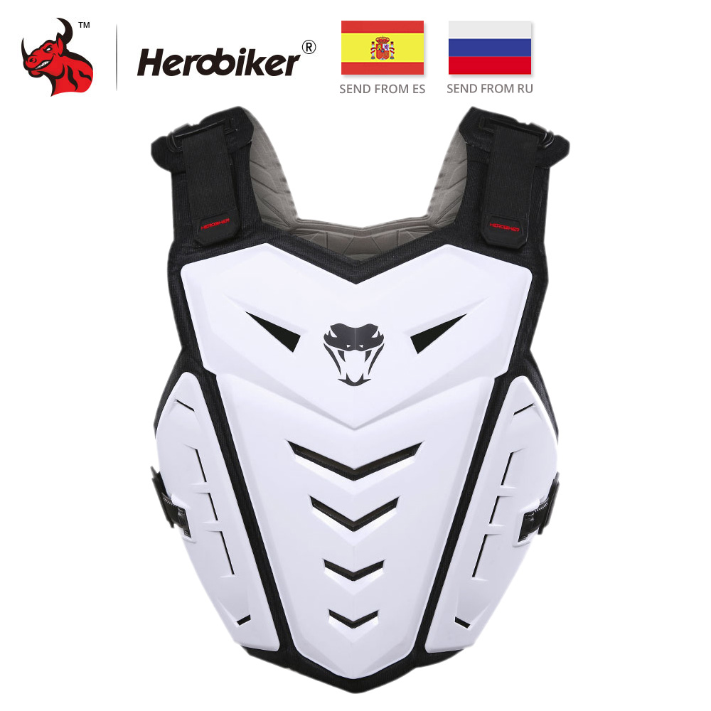 HEROBIKER Motorcycle Jacket Vest Motorcycle Riding Chest Armor Protector Armor Motocross Off-Road Racing Vest Protective Gear herobiker armor removable neck protection guards riding skating motorcycle racing protective gear full body armor protectors