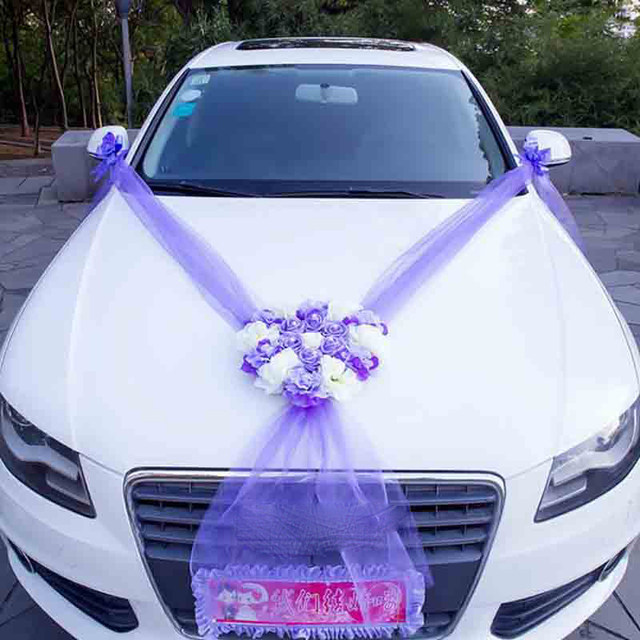 Online shop wedding car decorative flowers wreaths artificial wedding car decorative flowers wreaths artificial flowers car decoration sets silk flower pearl garland wedding accessories junglespirit Gallery