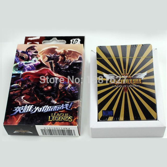 LOL Poker Playing Cards league of legends figure toy board game ...