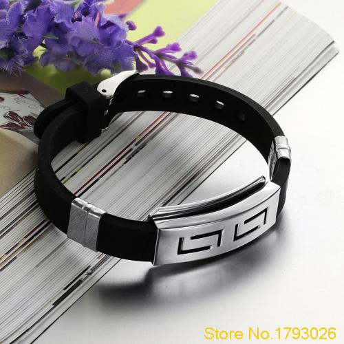 Punk Rubber Stainless Steel...