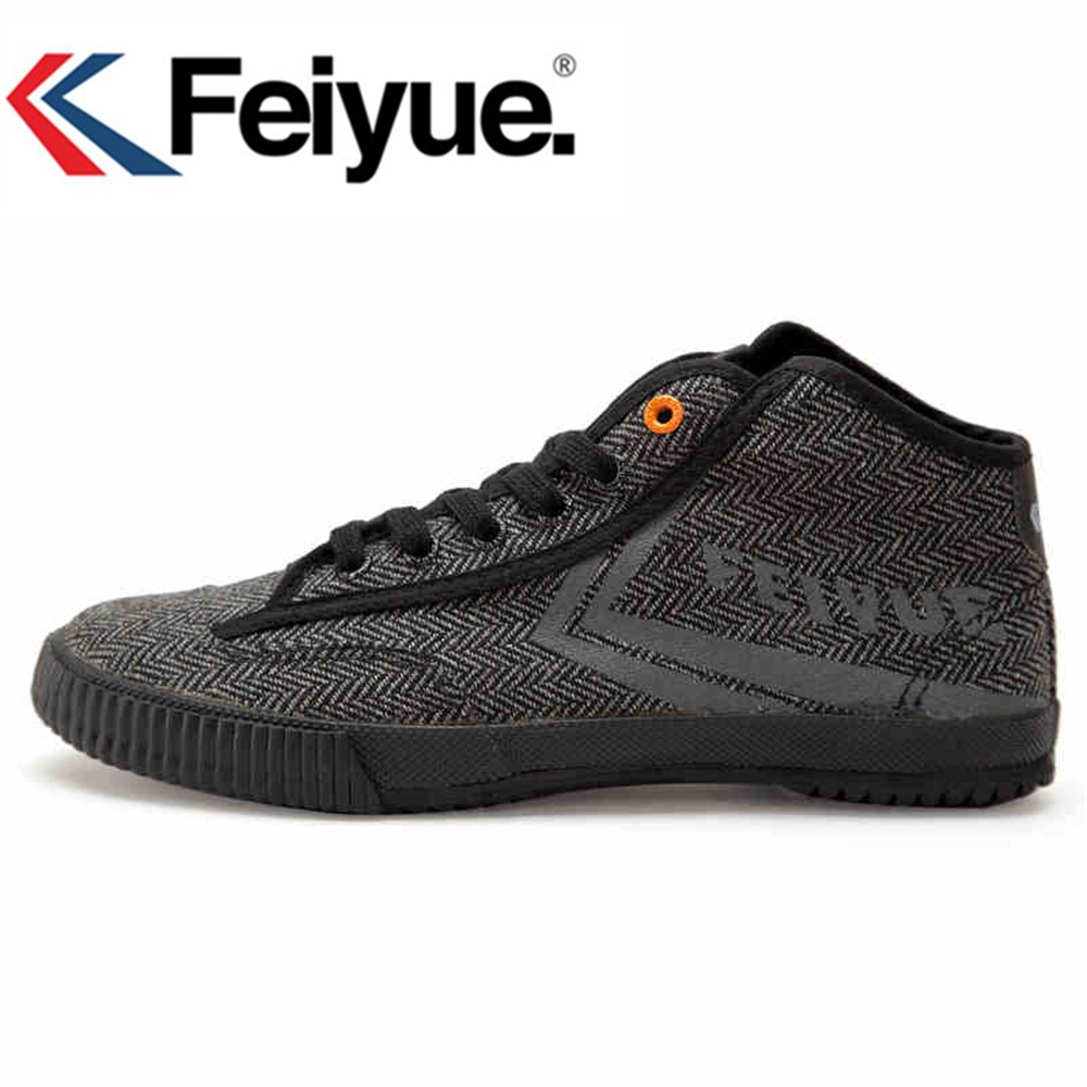 Feiyue chaussures Style Noir Sneakers arts Martiaux femmes hommes Kungfu chaussures de Marche toile chaussures Tai et Chi Shaolin chaussures