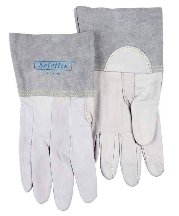 Leather Work Gloves Deluxe TIG MIG Welding Glove ! Excellent Comfoflex TIG MIG Grain Goatskin Leather Welding Work Glove вытяжка elikor вента 60 ваниль 650 кп