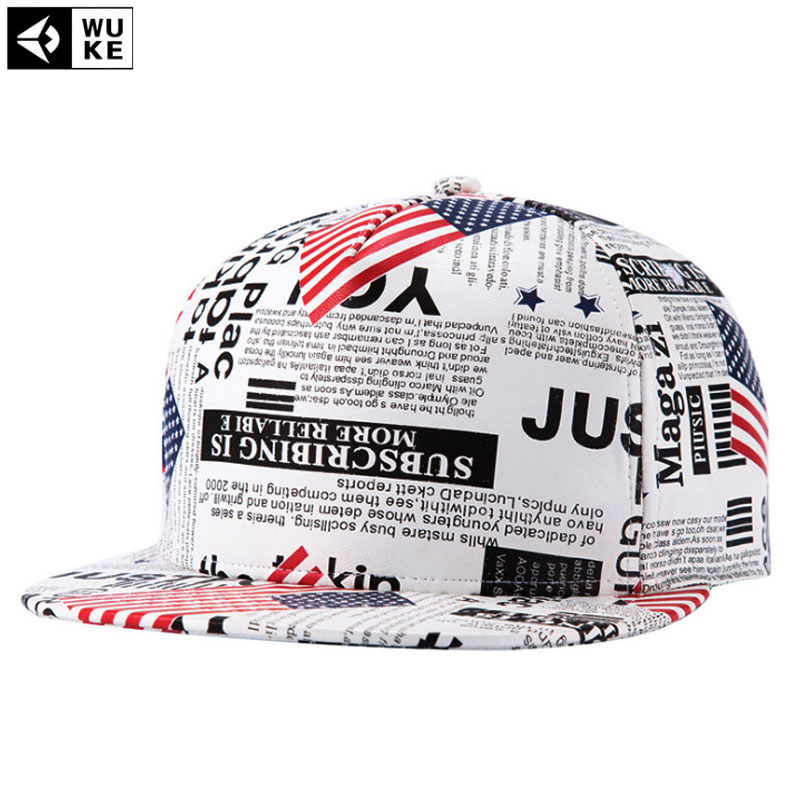 Prix pour [Wuke] journal design de mode gorras planas hip hop chapeau hommes de snapback caps z-2623