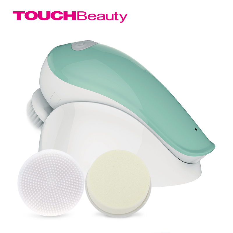 TOUCHBeauty electric rotating facial cleansing brush for Oily skin, 360 Clockwise and count-Clockwise face brush TB-1282A touchbeauty 3 in1 rotating facial cleansing brush set with 3 replacement brush heads 2 speed settings with storage box tb 0759a