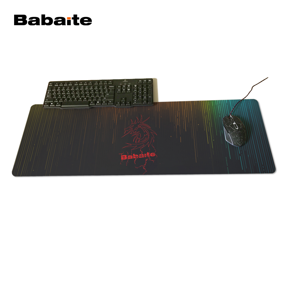 Babaite Original Design Speed Gaming Edition Mouse Pad 900 * 300mm XL Edge of Locking Mouse Pad for Laptop