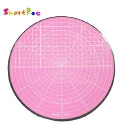 Alfombrilla rosada giratoria para corte circular curvado, pintura de modelos, corte de plantas en macetas, rotación de 360 grados; diámetro de 25,5 cm