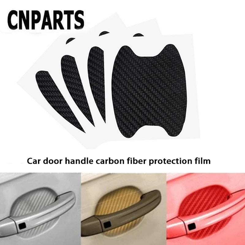 CNPARTS For Renault Megane 2 3 Duster <font><b>VW</b></font> Touran Passat B6 <font><b>Golf</b></font> <font><b>7</b></font> T5 T4 Fiat 500 Car Door Handle <font><b>Carbon</b></font> Fiber Protection Sticker image