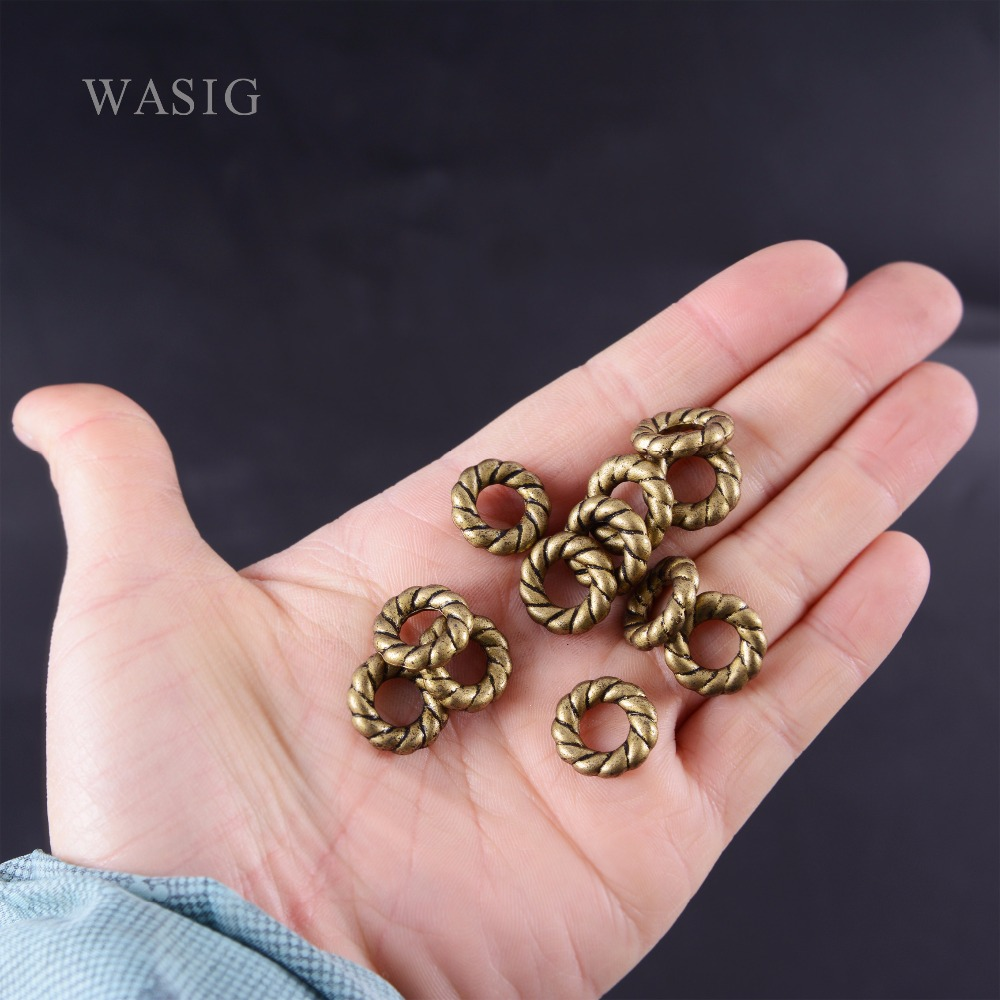 10Pcs/Lot Hair Braids Dread Dreadlock Beads Approx 8mm Hole Tibet Golden Beads Dread Cufff