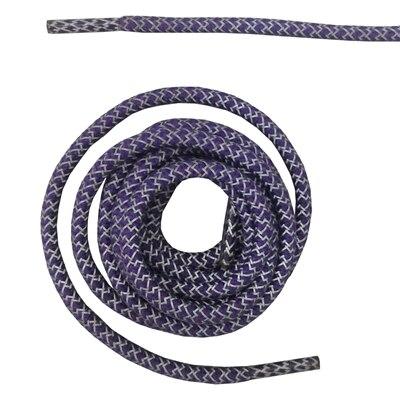 """Круглая веревка 3м Светоотражающие шнурки для ботинок бегуна видимые безопасные шнурки 14 цветов 4"""" /120 см - Цвет: purple"""