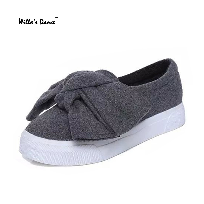 Willa Dance 2016 Autumn font b Women s b font Shoes Wool Breathable Casual Shoes font