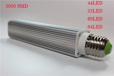 Corn Bulb E27 9/11/12/14W 220V Pure / Warm White SMD 5050 44/52/60/64 LED Spot Light Bulb Lamp Flat Tube 1pcs/LOT