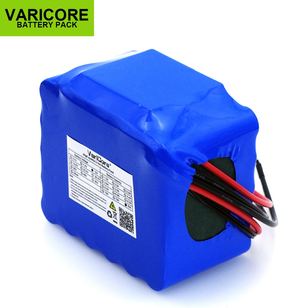 VariCore 12V 20Ah high power 100A discharge battery pack BMS protection 4 line output 500W 800W 20000mAh 18650 battery-in Battery Packs from Consumer Electronics