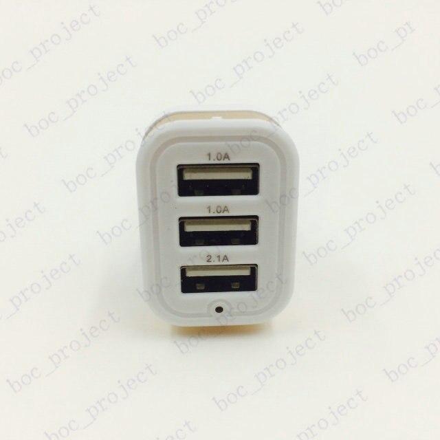 3 порт алюминий нижней двойной порт <font><b>usb</b></font>, автомобильное зарядное устройство <font><b>usb</b></font> адаптер для iphone 6s 6 плюс <font><b>5</b></font> 5S samsung s6 edge s5 s4 note <font><b>5</b></font> 4 100 шт./лот
