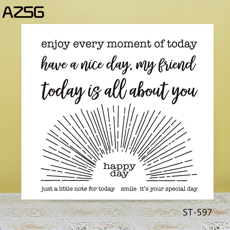 AZSG enjoy every moment of today Clear Stamps/Seals For DIY Scrapbooking/Card Making/Album Decorative Silicone Stamp Crafts