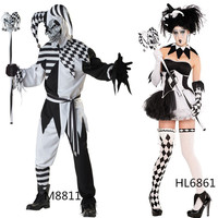 Halloween Costume New Fantasy Sexy Jester Costume Hot Sale Halloween Sexy Costumes For Women Free Shipping