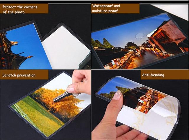 75mic 6 pulgadas película de laminación * 160*110mm bolsa de laminación/sábanas gran protección para papel fotográfico de los archivos de imagen de la tarjeta 50 unids/pack