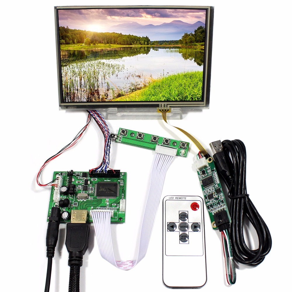 HDMI LCD Controller Board With 7inch 1280x800 N070ICG-LD1 IPS LCD With Touch Panel цена