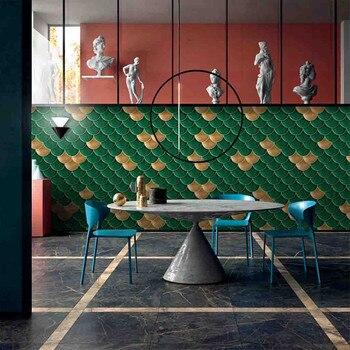 9 цветов, модная Наклейка на стену в виде рыбьей чешуи, для дома, сделай сам, декоративная наклейка, s клей, плитка, художественная Метопа, сделай сам, декор для кухни, ванной комнаты