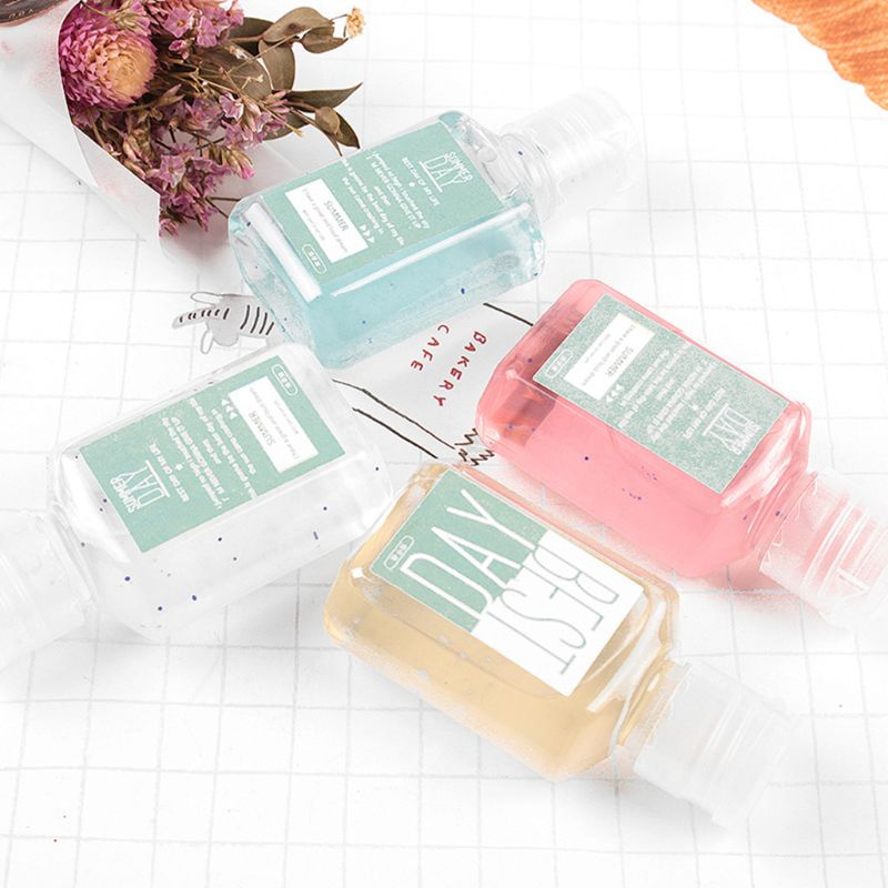 Travel Portable 30ml Candy Color Mini Hand Sanitizer Anti-Bacteria Fruit-Scented Disposable No Clean Waterless