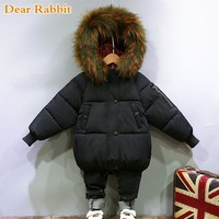 2019 Fashion Warm Winter Jackets For Girls clothing Thick Coat High Quality Fur Collar Embroidery Sleeve Parka kids boys clothes