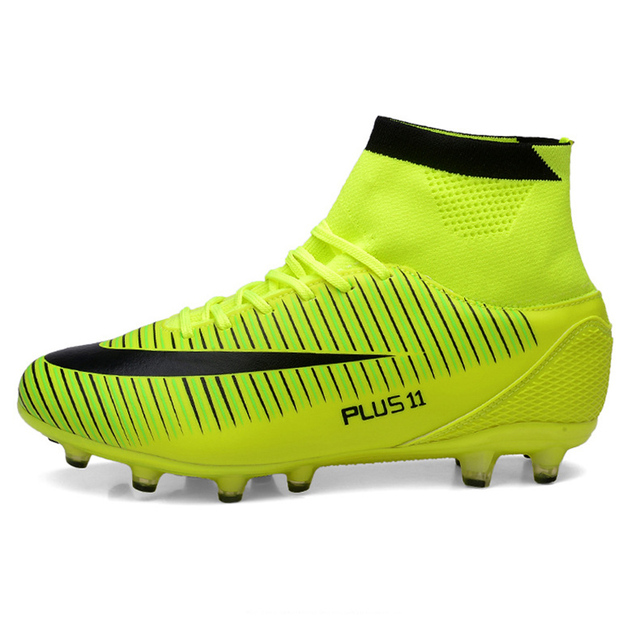 Soccer Shoes For Sale >> Us 25 08 56 Off Leoci Hot Sale Mens Big Size Soccer Cleats High Ankle Football Shoes Long Spikes Outdoor Soccer Traing Boots For Men High Ankle In