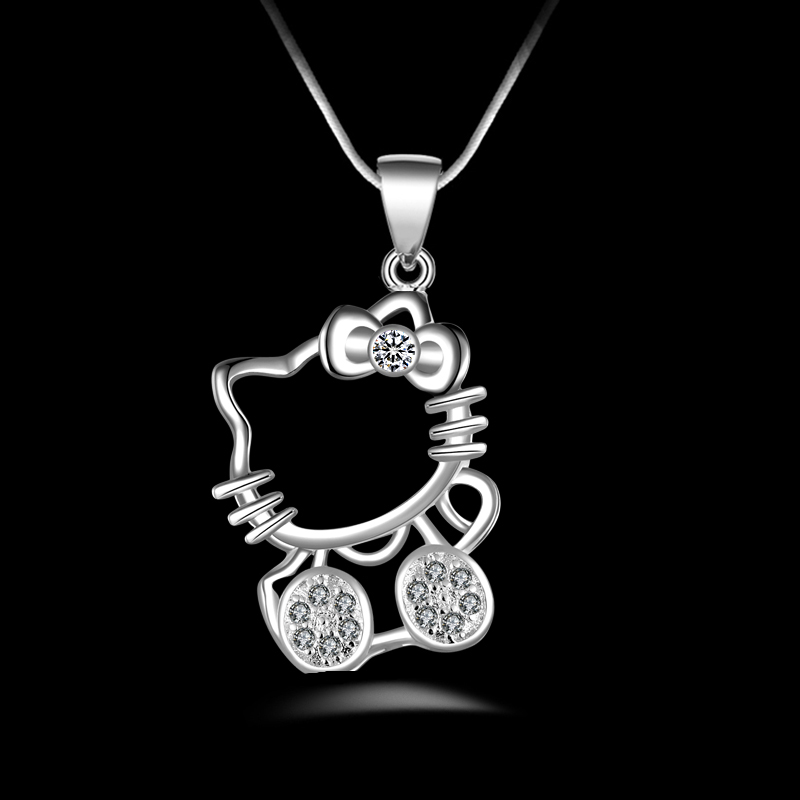 PATICO Kitty Pendant Necklace 925 Sterlis