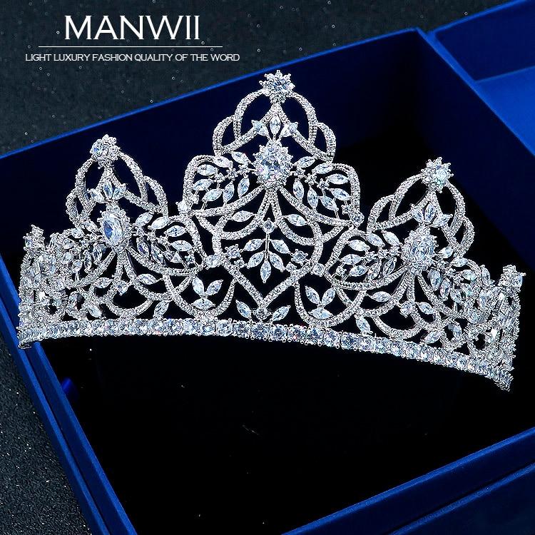 Здесь продается  MANWII Micro damascene AAA Zircon Bride Tiaras and Crowns Birthday Wedding Hair Accessories European style New Arrival HA20053  Ювелирные изделия и часы