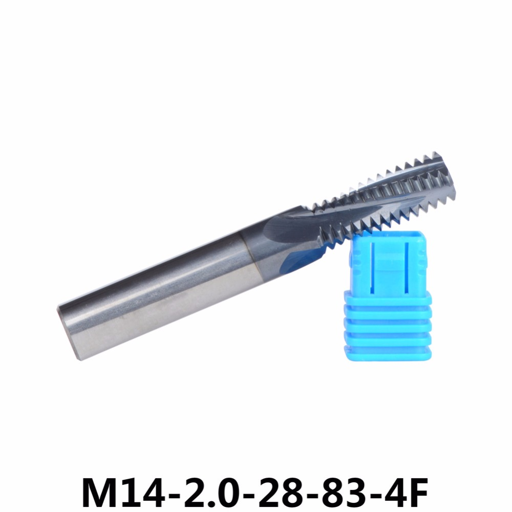 Tungsten Carbide thread end mill M14*2.0, thread mills, thread milling cutters with TIALN coating 1pc M14 Metric 2.0 mm Pitch fixmee 100pc metric thread