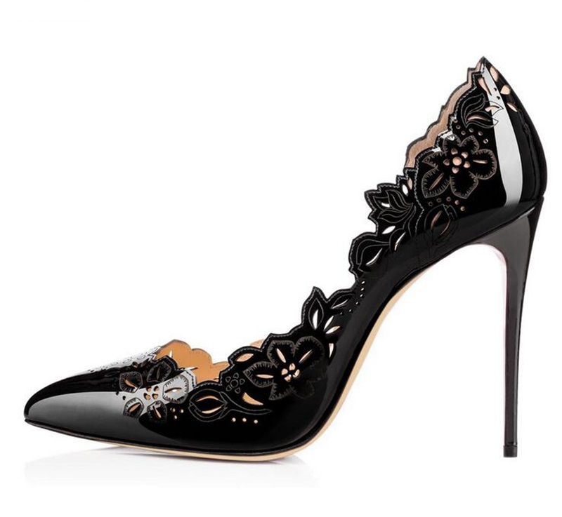Pointu Creux Slip 10 Mince as Blanc Lady on Grande Picture Bout Taille Fleurs Pompes Hauts Chaussures As Femmes À Sculpture Talons Picture Robe Sexy xAX75wqq