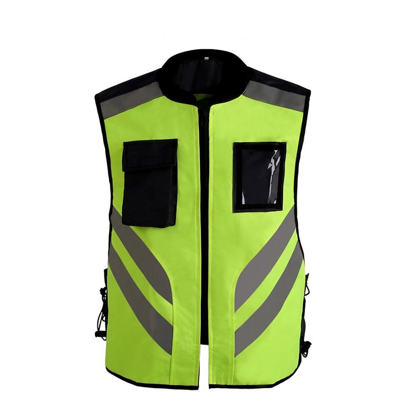 Reflective Cycling Jacket Safety Rflective Vest windproof Fluorescent M-XL customize logo printing V120026 2016 real top fashion safety construction reflective vest more than a single fluorescent green lattice safety vest zip pocket