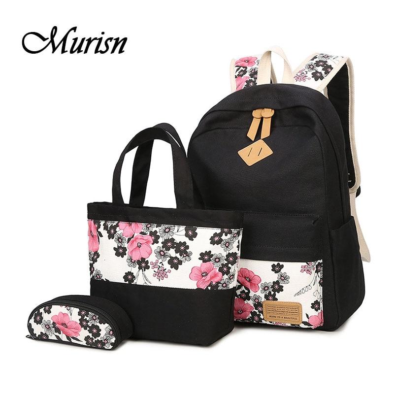 Canvas Backpack Fashion Printing Backpacks Feminine School Backpacks For Teenagers Girls School Bags For Teenage Women