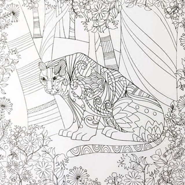 Online Shop The Enchanted Forest Book Coloring For Adult Kid