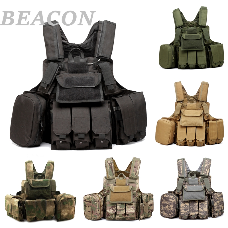 New Tactical Military Vest Airsoft Paintball Combat Molle CIRAS Vest Releasable Armor Plate Carrier Strike Pouch Accessoies Vest