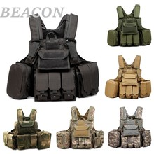 2017 New Tactical Vest Airsoft Paintball Combat Molle CIRAS Vest Releasable Armor Plate Carrier Strike Vests Pouch Accessoies(China)