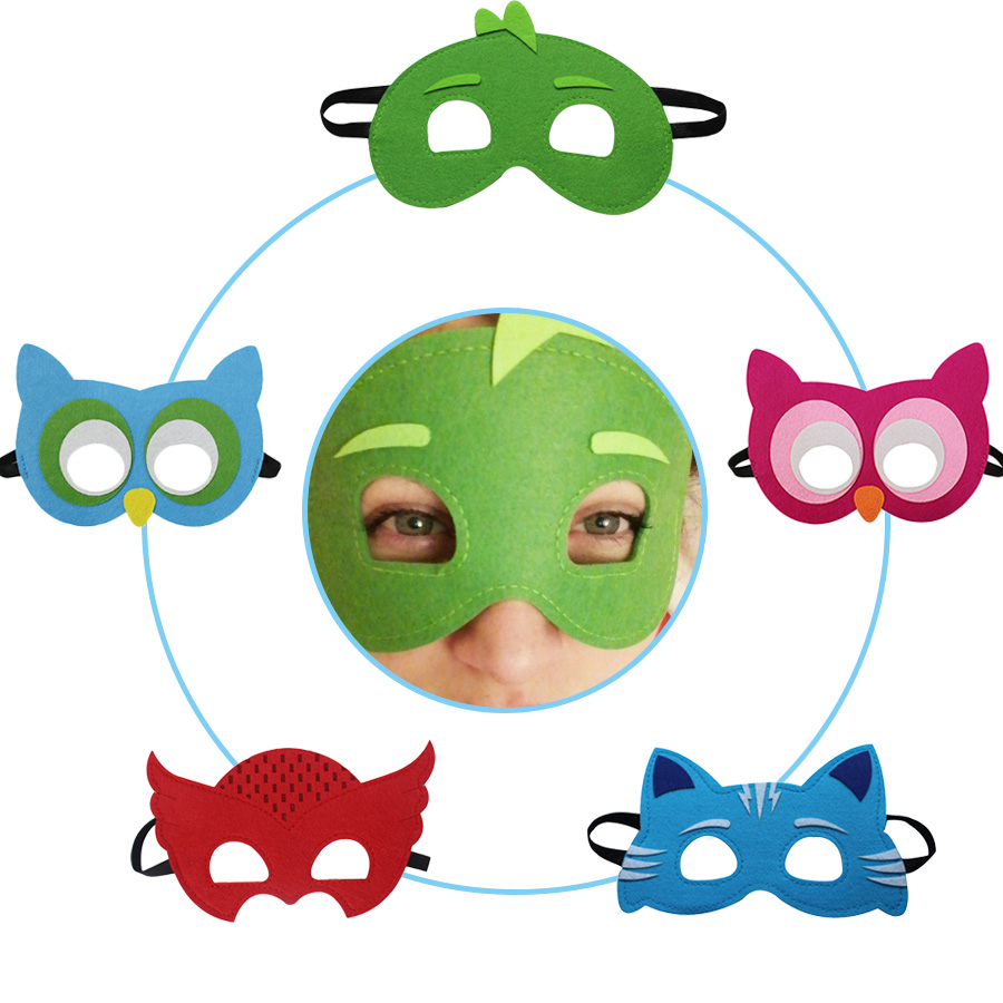 5 Packs SPECIAL Cartoon Mask Girl Party Birthday Costume Christmas Mask Dress Gifts Girl Superhero Niece Kids Animal Masks
