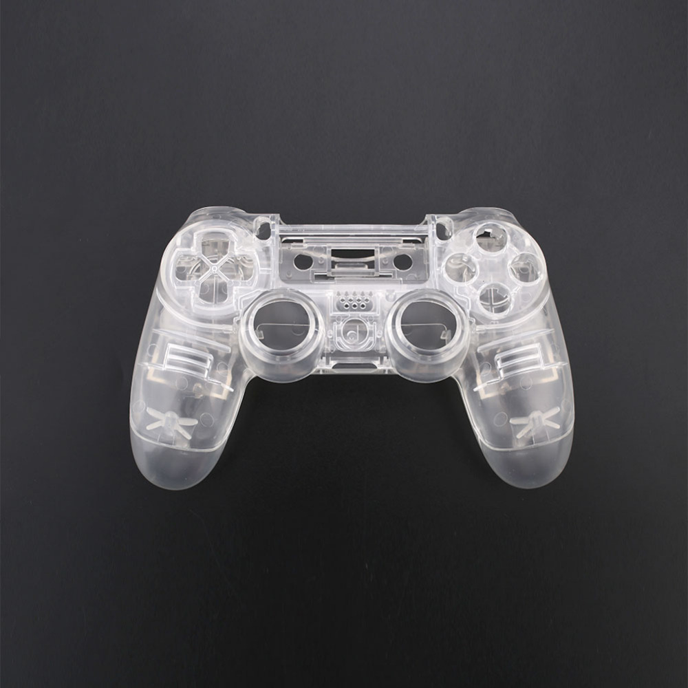 Cewaal high quality Full Housing Cover Case Button Key Kit for PS4 Wireless Game Controller Clear