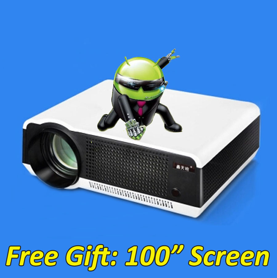 5500 Lumens Smart Lcd Tv Led Projector Full Hd Support: 5500 Lumens Smart Android 4.4 Lcd Tv Led Video Projector