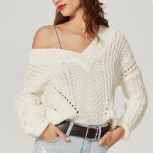 MUXU white sweater pullover women sweaters and pullovers long sleeve knitted chompa feminino fashion