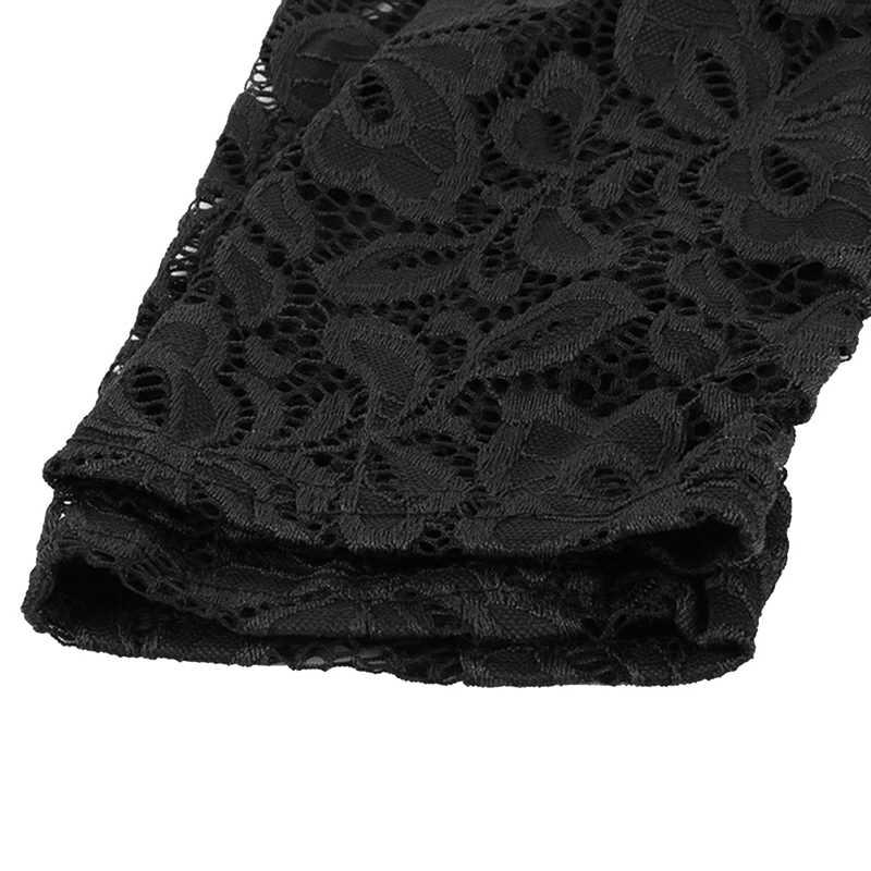 Litthing модные женские туфли с открытыми плечами кружево блузки для малышек стильная женская обувь Твердые Черный, белый цвет Топ длинным рукаво