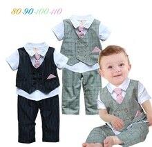 2016 printemps vêtements de garçon ensemble 100% coton enfants ensembles de costume pour l'été mode Enfants vêtements 3 pcs ensemble chemises + pantalon + cravate