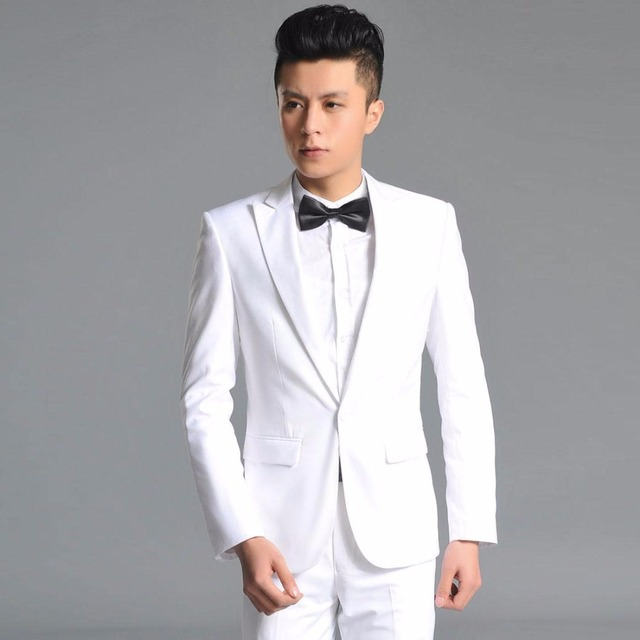 Latest Coat Pant Designs White Suits Men Formal Slim Fit Groom ...